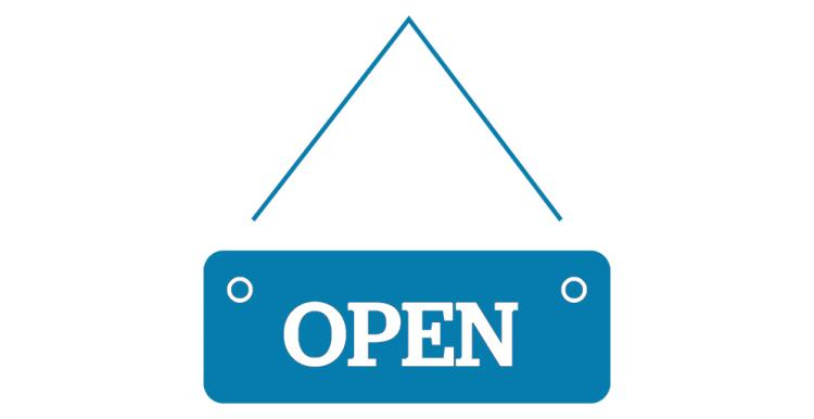 Open sign infographic
