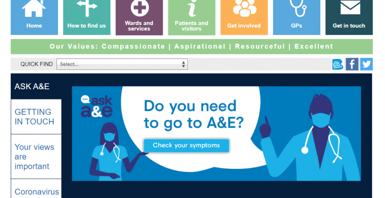 Home page of RBH website