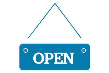 Infographic of Open sign