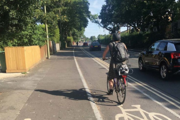 Photo of cycle lane from Department for Transport