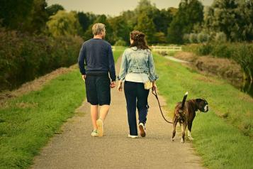 Photo of couple walking