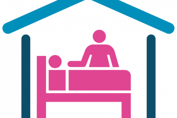 Infographic of care home staff and resident