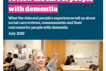 Healthwatch England dementia report cover