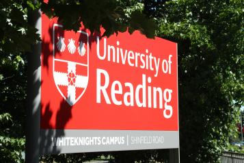 Photo of University of Reading sign