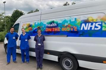 Photo of Health on the Move van from Berkshire West CCG
