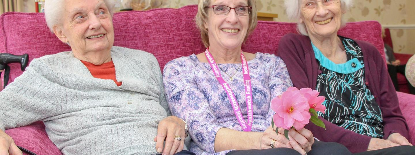Healthwatch Reading staff member at a care home