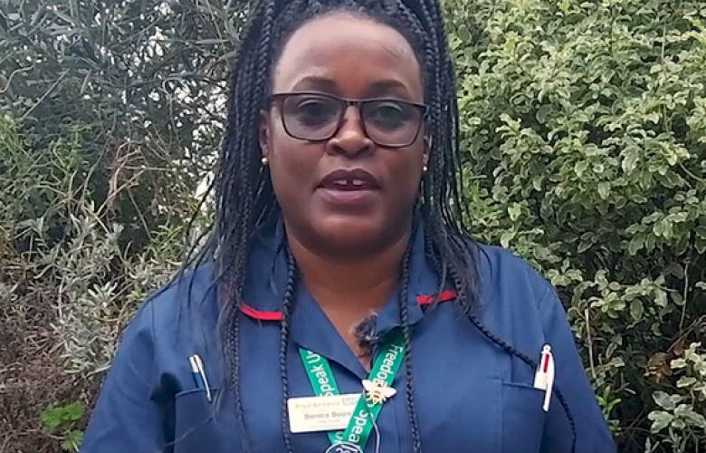 Photo of Bernice Boore from Reading Borough Council video on vaccines