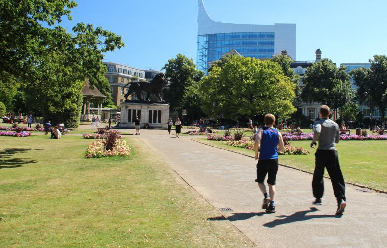 Photo of people in Forbury Gardens