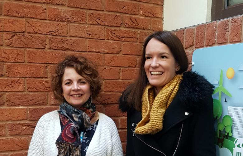 Photo of two social prescribers working in Reading