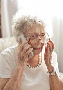 Photo of older woman on phone